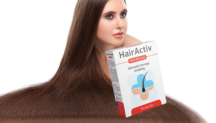 HairActiv pro růst vlasů a nehtů: zdravé nehty, dlouhé řasy, krásné obočí a husté vlasy
