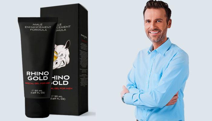 Rhino Gold Gel na zvětšení penisu: pozoruhodná velikost